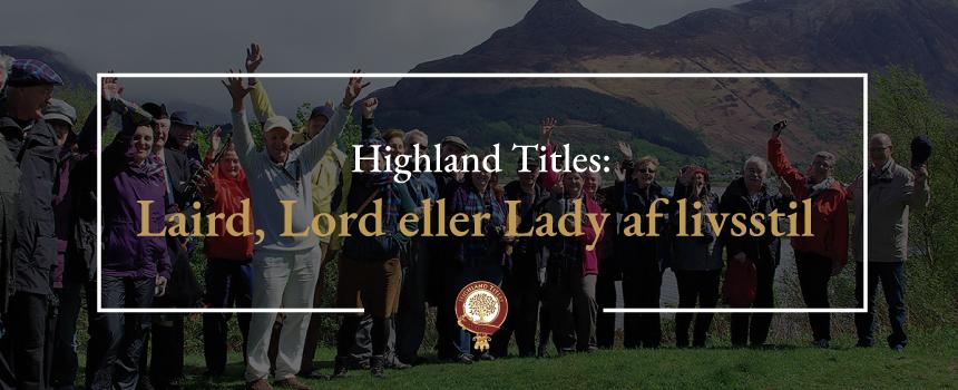 Lairs, lord eller lady af livsstil